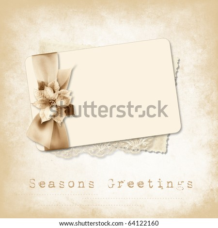 Vintage invitation for holiday - stock photo