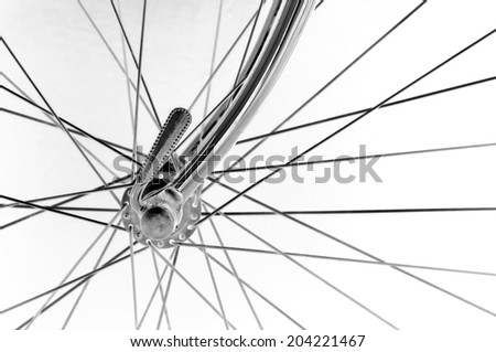 vintage italian bicycle front hub on black background