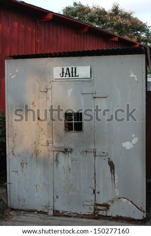 Vintage Jail sign - stock photo