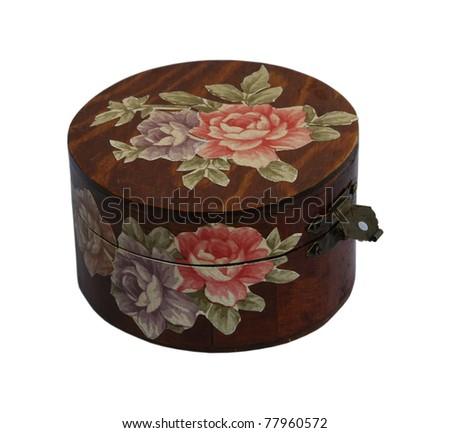 Vintage jewelry box. Hand made jewelry box. - stock photo