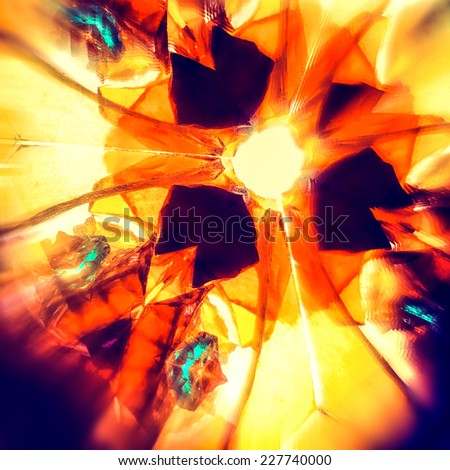 Vintage kaleidoscope pattern - stock photo