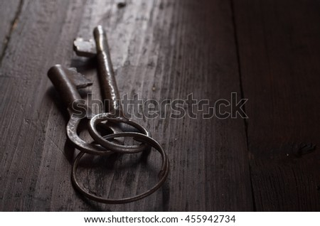 vintage key - stock photo