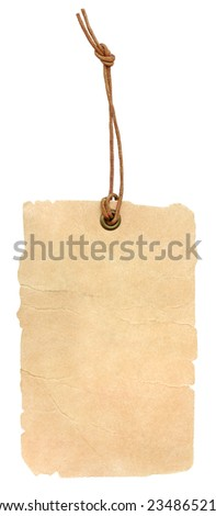 Vintage label on isolated white background. - stock photo