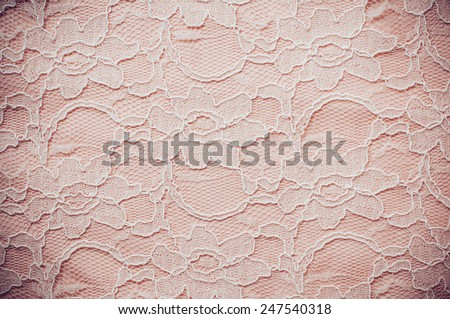 Vintage lace, elegant lace ornament pattern in beige pastel colors - stock photo