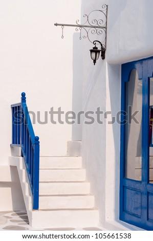 vintage ladder in Greek style - stock photo