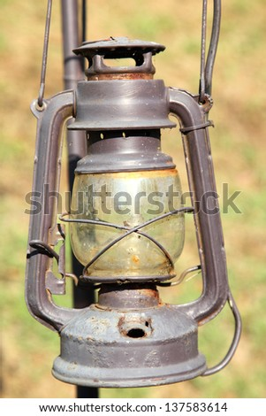 Vintage lamp - stock photo