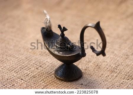 Vintage Lamp of Aladdin - stock photo