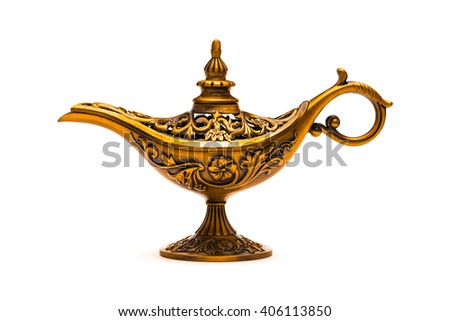 Vintage lamp of Aladdin - stock photo