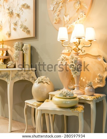 Vintage lamps - stock photo