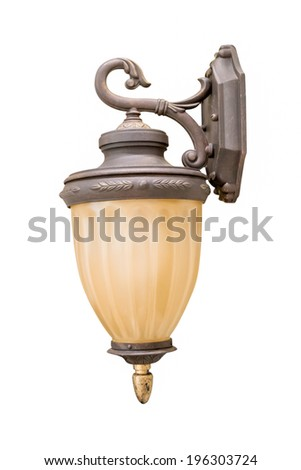 Vintage Lantern isolated on white background
