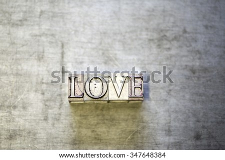 vintage letters from vintage press - stock photo