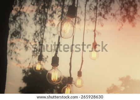 Vintage light bulb - stock photo