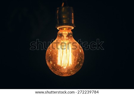 Vintage light bulb - stock photo