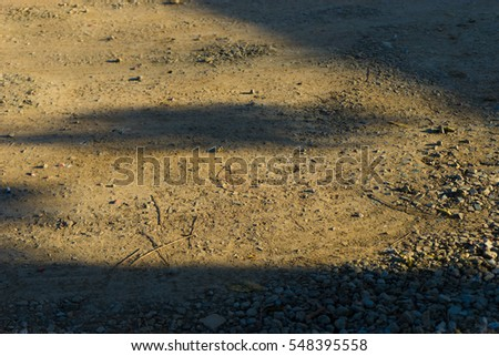 Vintage light on ground for background