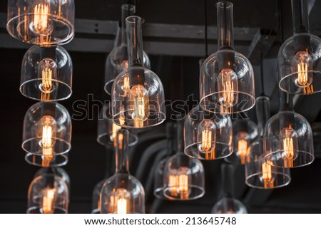 Vintage Lighting decor - stock photo