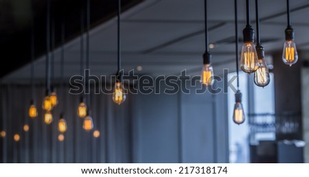 Vintage Lighting decor - stock photo