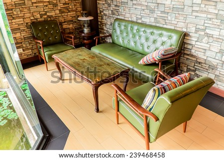Vintage living room - stock photo