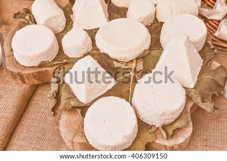 Vintage looking Fine traditional hand made cheese food