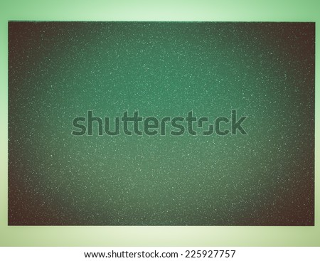 Vintage looking Green painted metal sample isolated over white background