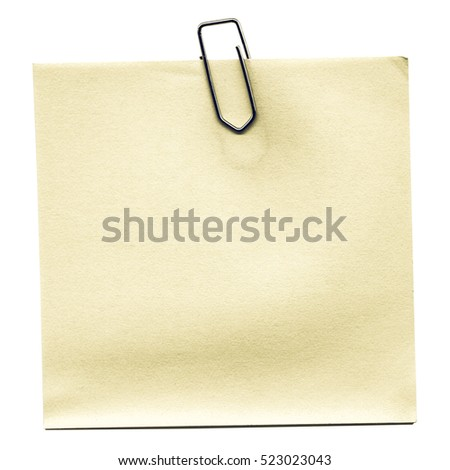 Vintage looking Post it isolated over a white background