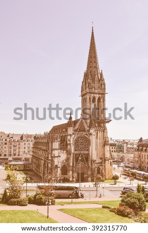 Vintage looking Saint Pierre Abbey in Caen France