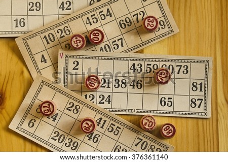 Vintage lotto: kegs and cards