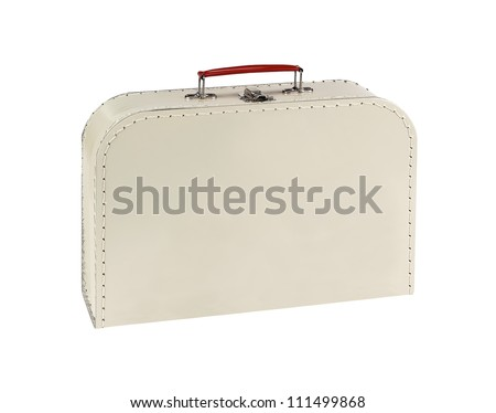 Vintage lunch box isolated on white background - stock photo