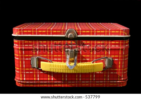 vintage lunchbox - stock photo