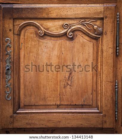 Vintage luxury dresser door. - stock photo