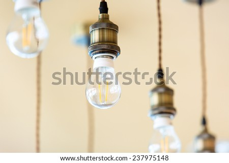 Vintage luxury interior lighting lamp decor hang on ceiling - stock photo