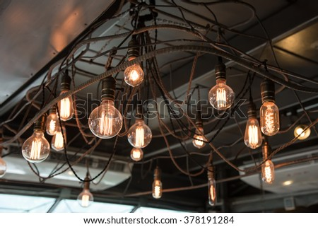 Vintage luxury interior lighting lamp for home decor - stock photo