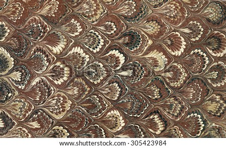 Vintage marbled Paper in traditional turkish style - ebru