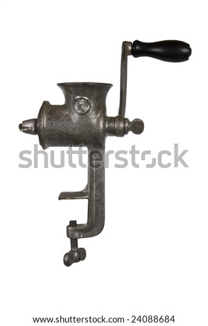 Vintage Meat grinder isolated over white