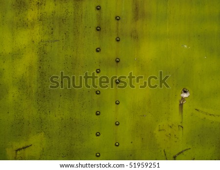 Vintage metal background with rivets - stock photo
