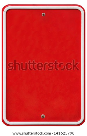 Vintage metal sign with place for text - stock photo