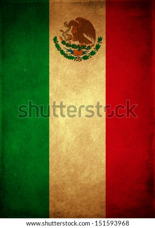 Vintage Mexican poster - card template  - stock photo