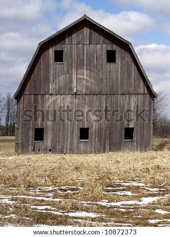 Vintage Michigan Family Farm Barn - stock photo
