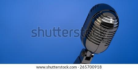 vintage microphone - stock photo