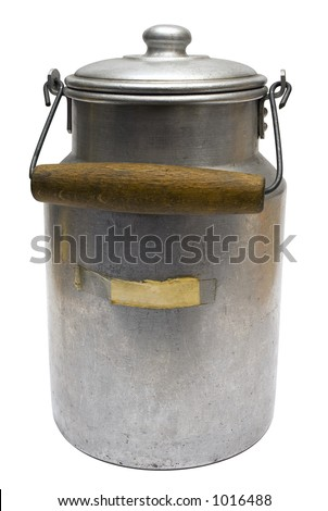 Vintage Milk Can w/ Path