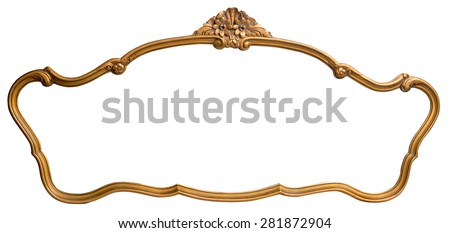 Vintage mirror, isolated, clipping path.