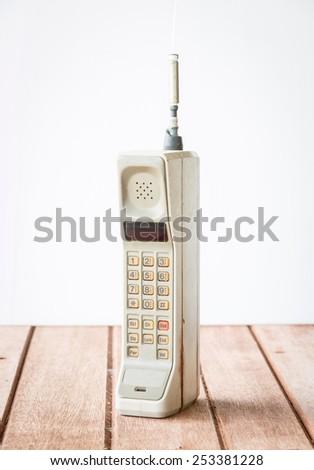 vintage mobile phone  - stock photo