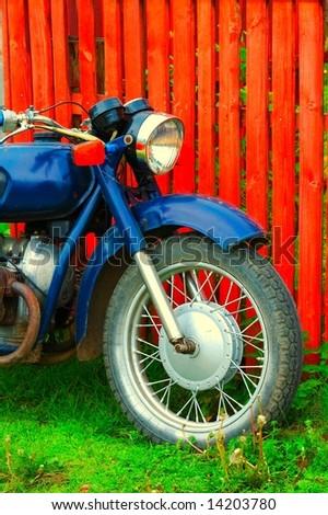 Vintage motorcycle - stock photo