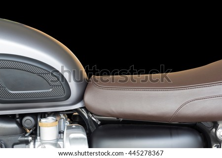 Vintage motorcycle cafe racer motorbike/Hipster lifestyle/Close-up Motorcycle Seats and fuel tank