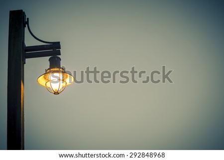 vintage nautical light fixture in vintage style effect - stock photo