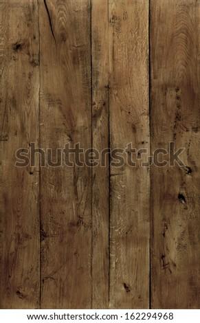 vintage oak wood texture background - stock photo
