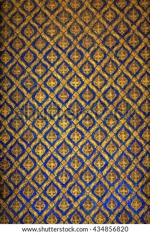 vintage of Traditional Thai style pattern,public temple - stock photo