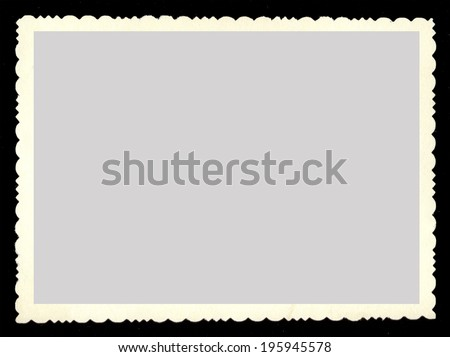 Vintage old blank photograph design element with white border. - stock photo
