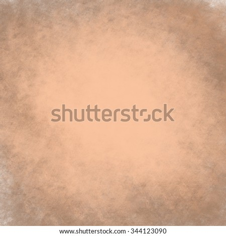 vintage old brown background texture layout, distressed aged background wall, painted brown paper image, faded white center and brown grunge border, antique background paper - stock photo