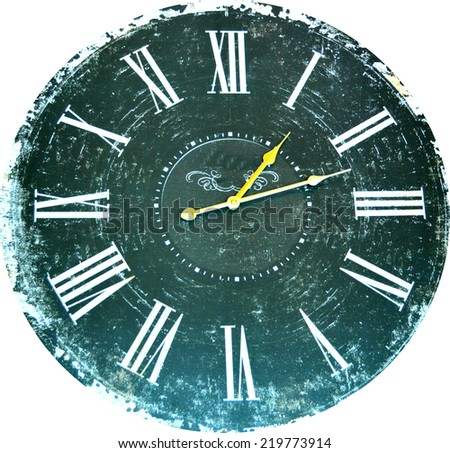 Vintage old clock  - stock photo