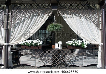 Vintage old fashioned cafe - stock photo